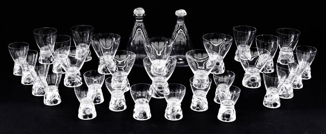 31pc R. Lalique ''Marienthal'' Crystal Decanter &