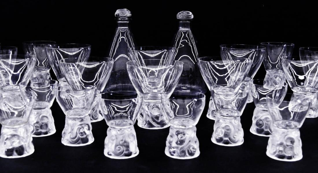 31pc R. Lalique ''Marienthal'' Crystal Decanter & - 2