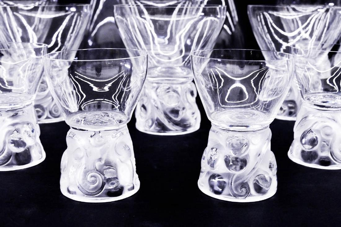 31pc R. Lalique ''Marienthal'' Crystal Decanter & - 3