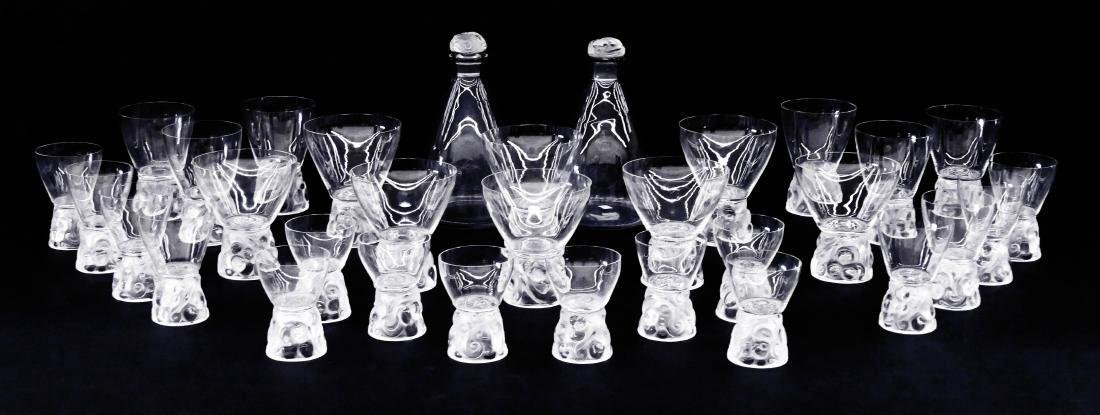 31pc R. Lalique ''Marienthal'' Crystal Decanter & - 6