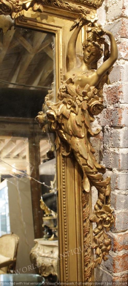 MAGNIFICENT EARLY 19TH C. ORIGINAL CARVED WOOD - 2