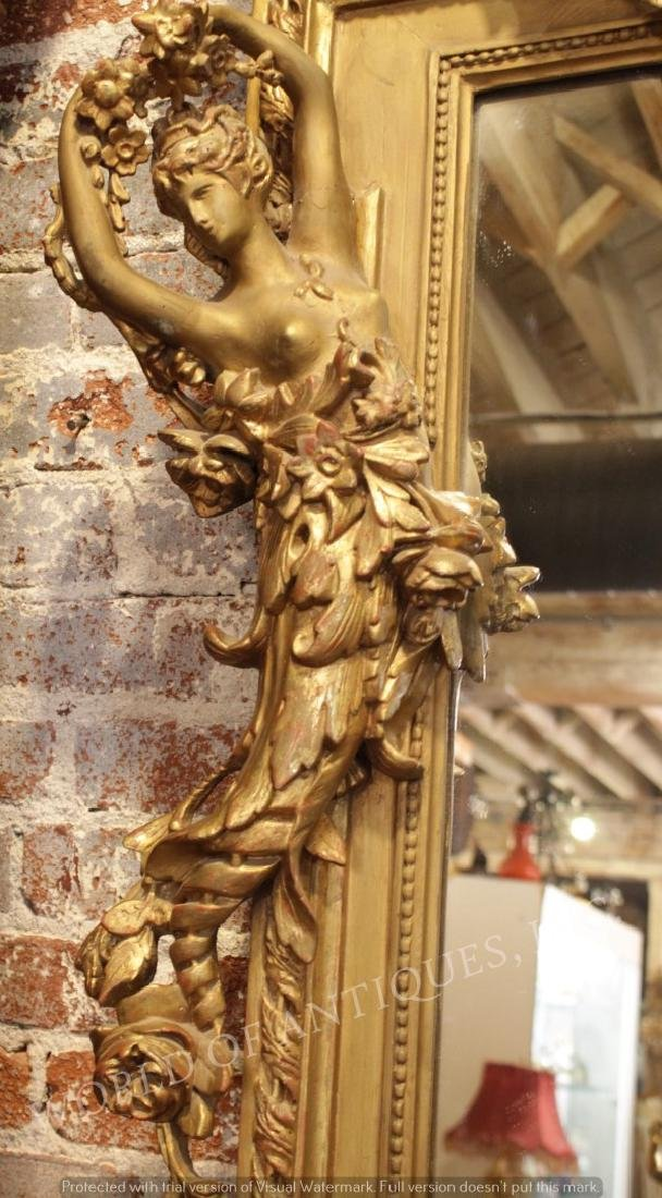 MAGNIFICENT EARLY 19TH C. ORIGINAL CARVED WOOD - 5