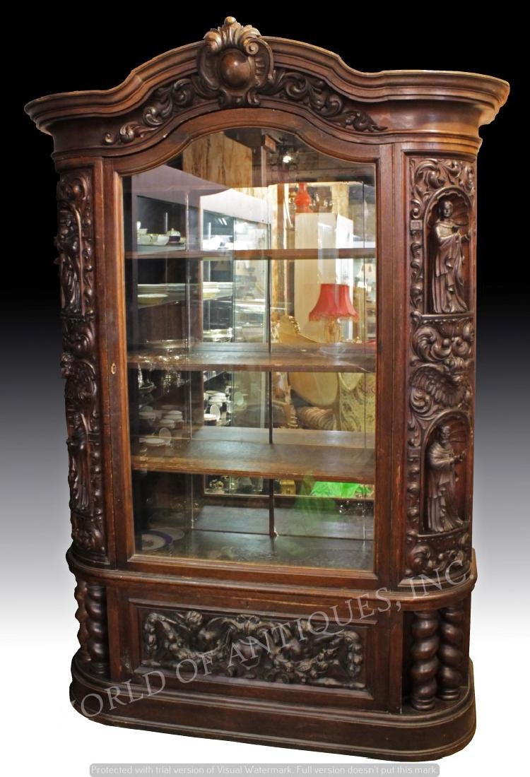 MAGNIFICENT 19TH C. FRENCH RENAISSANCE CARVED WOOD