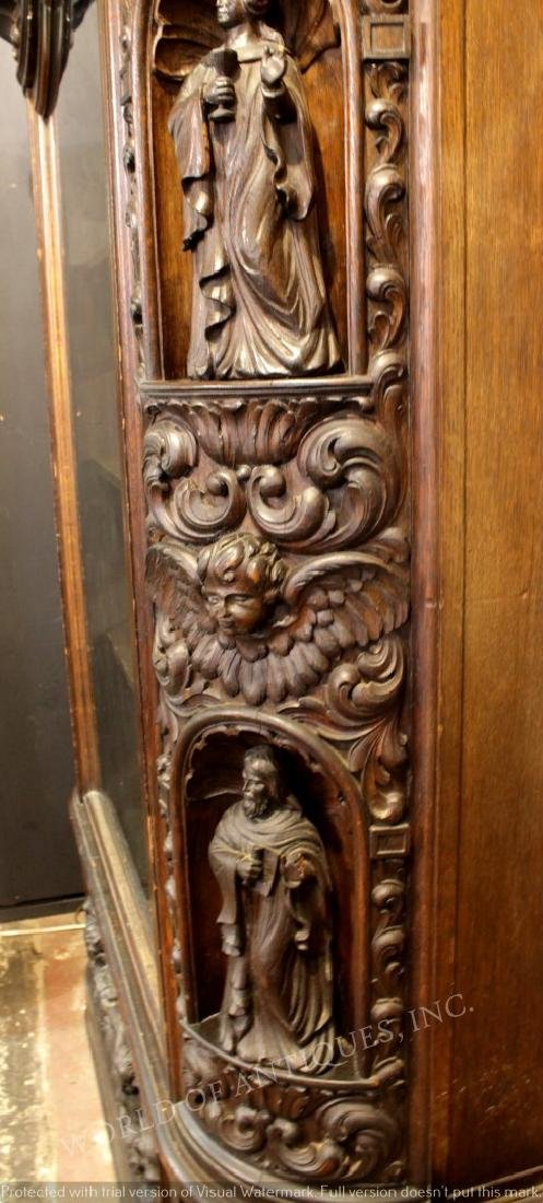 MAGNIFICENT 19TH C. FRENCH RENAISSANCE CARVED WOOD - 3