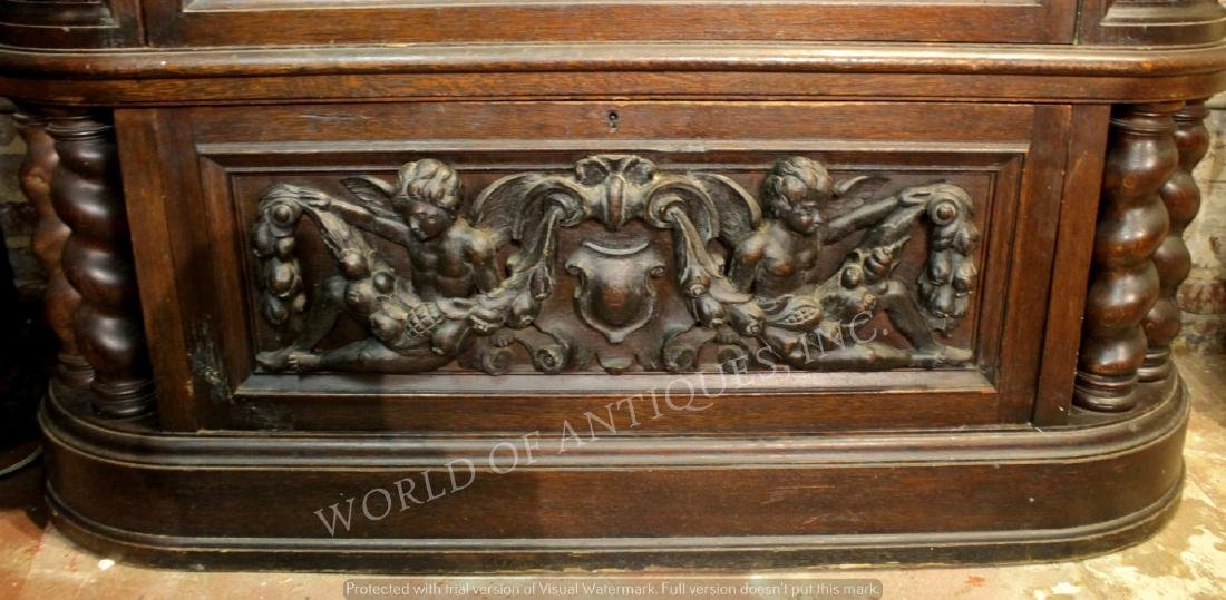 MAGNIFICENT 19TH C. FRENCH RENAISSANCE CARVED WOOD - 4