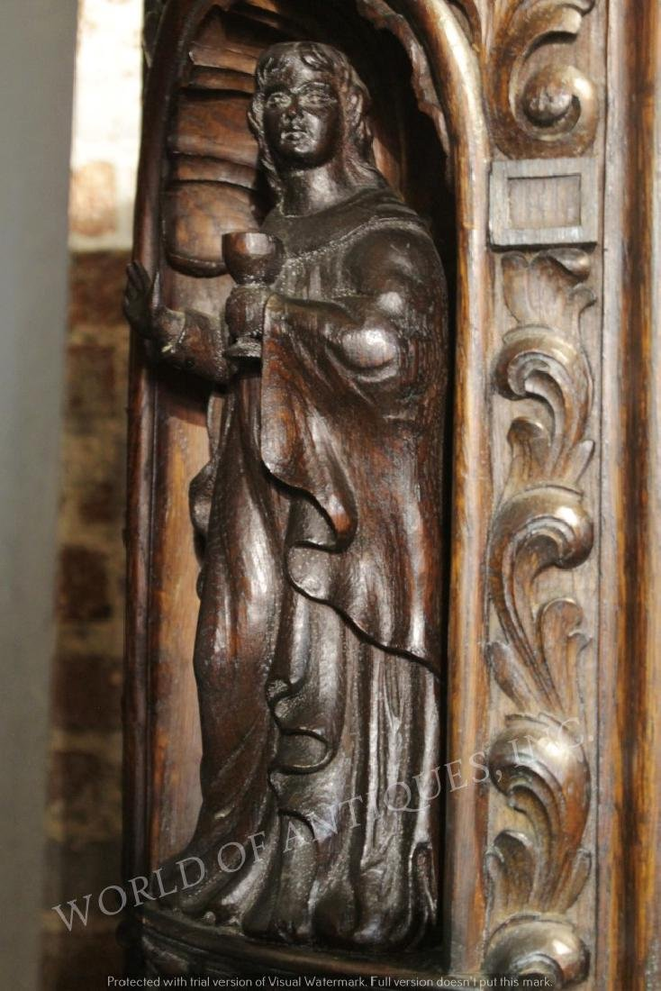 MAGNIFICENT 19TH C. FRENCH RENAISSANCE CARVED WOOD - 5