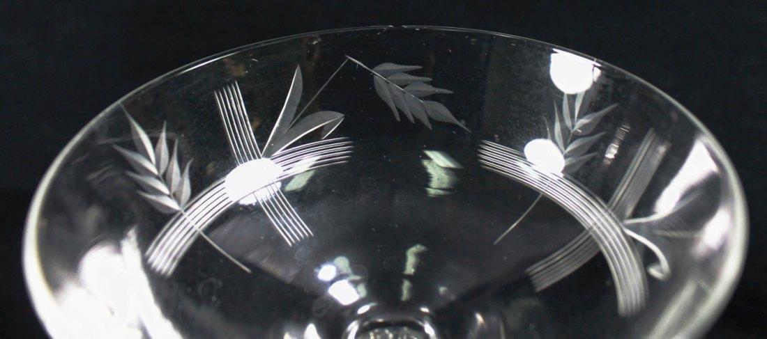 ETCHED CHAMPAGNE GLASSES, 9 PCS - 8