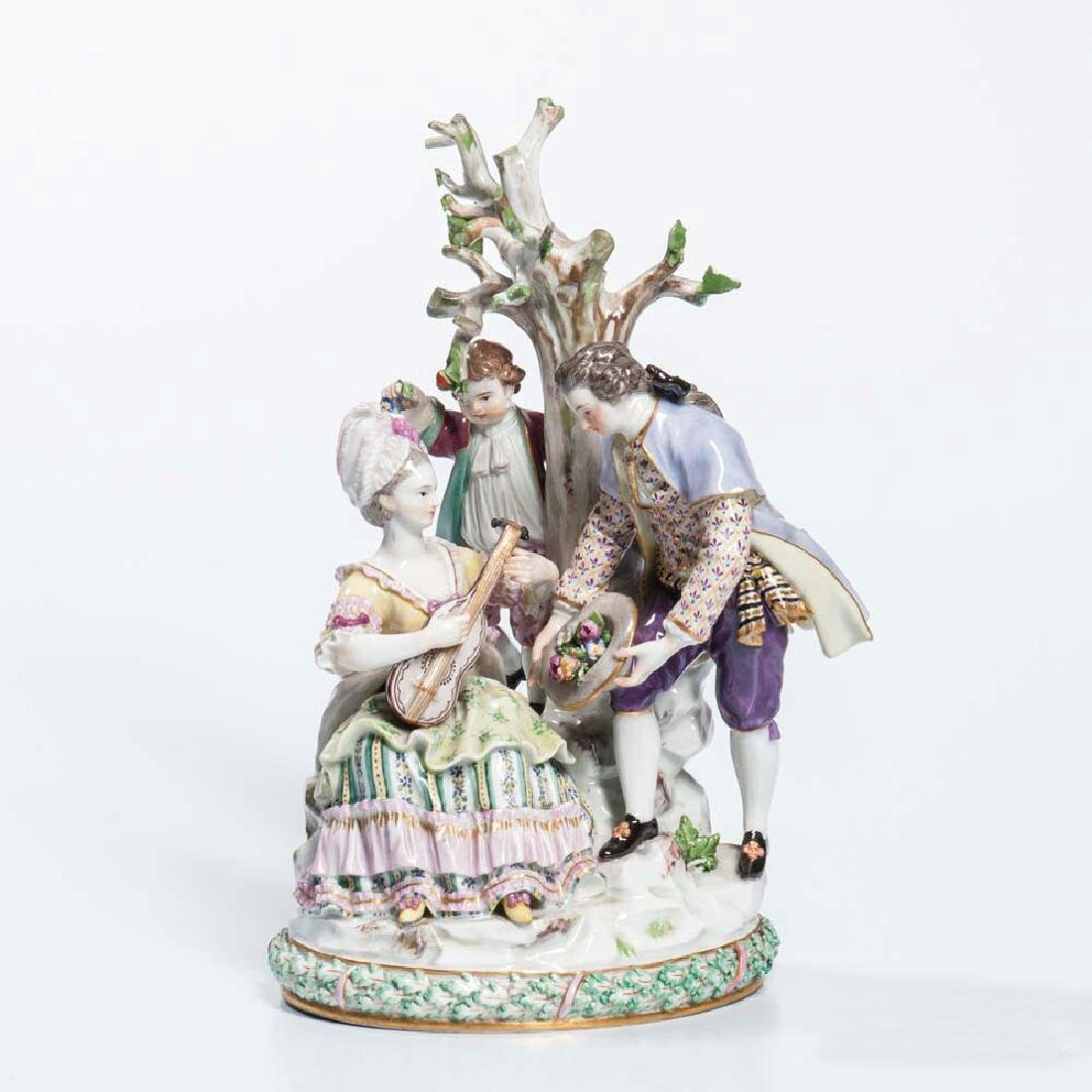 Meissen Porcelain Figural Group, Germany, 19th/early