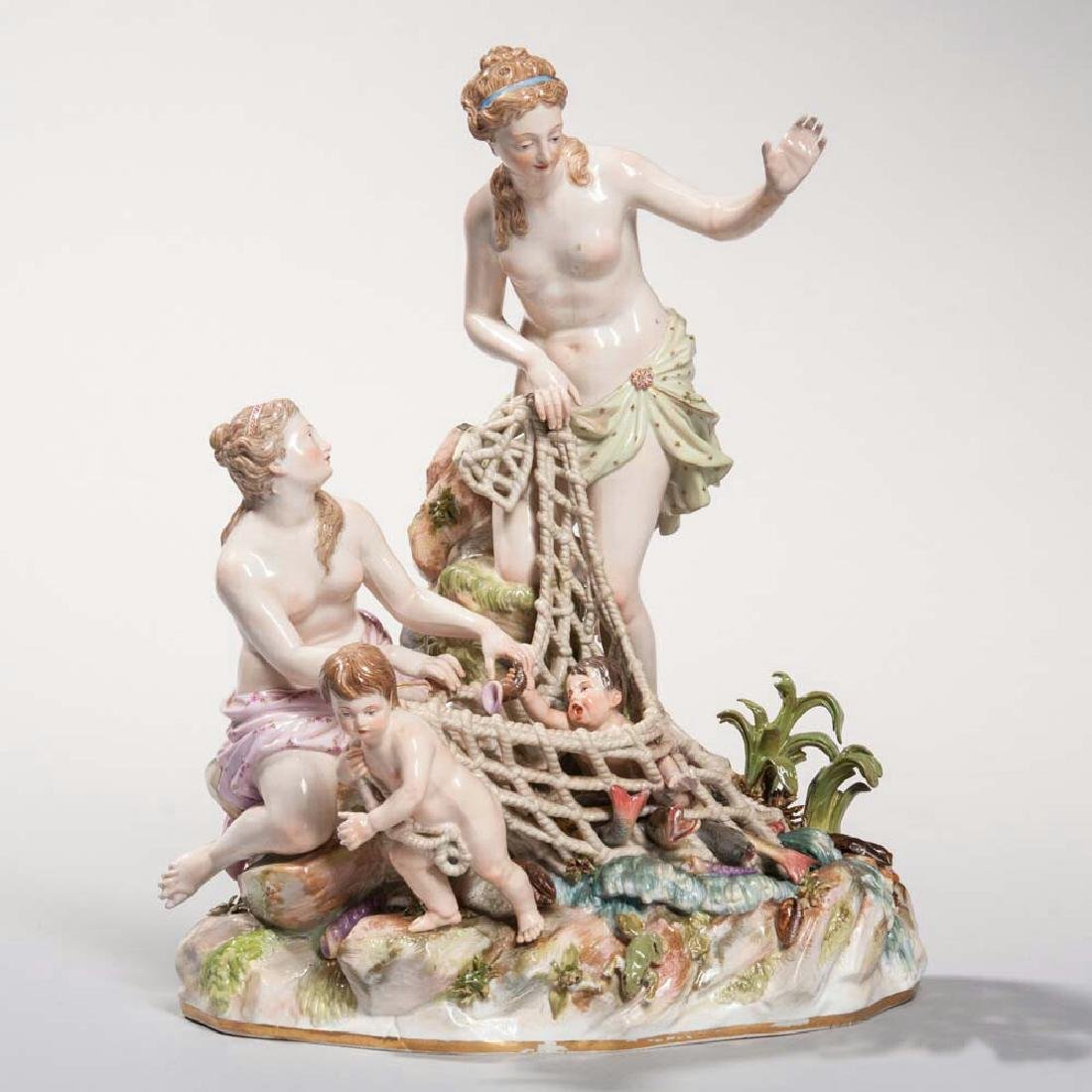 Meissen Porcelain Figural Group The Capture of an