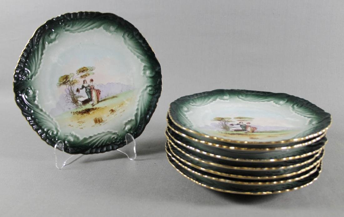 SET OF 8 ALBERT PILLIVUYT LIMOGES PLATES