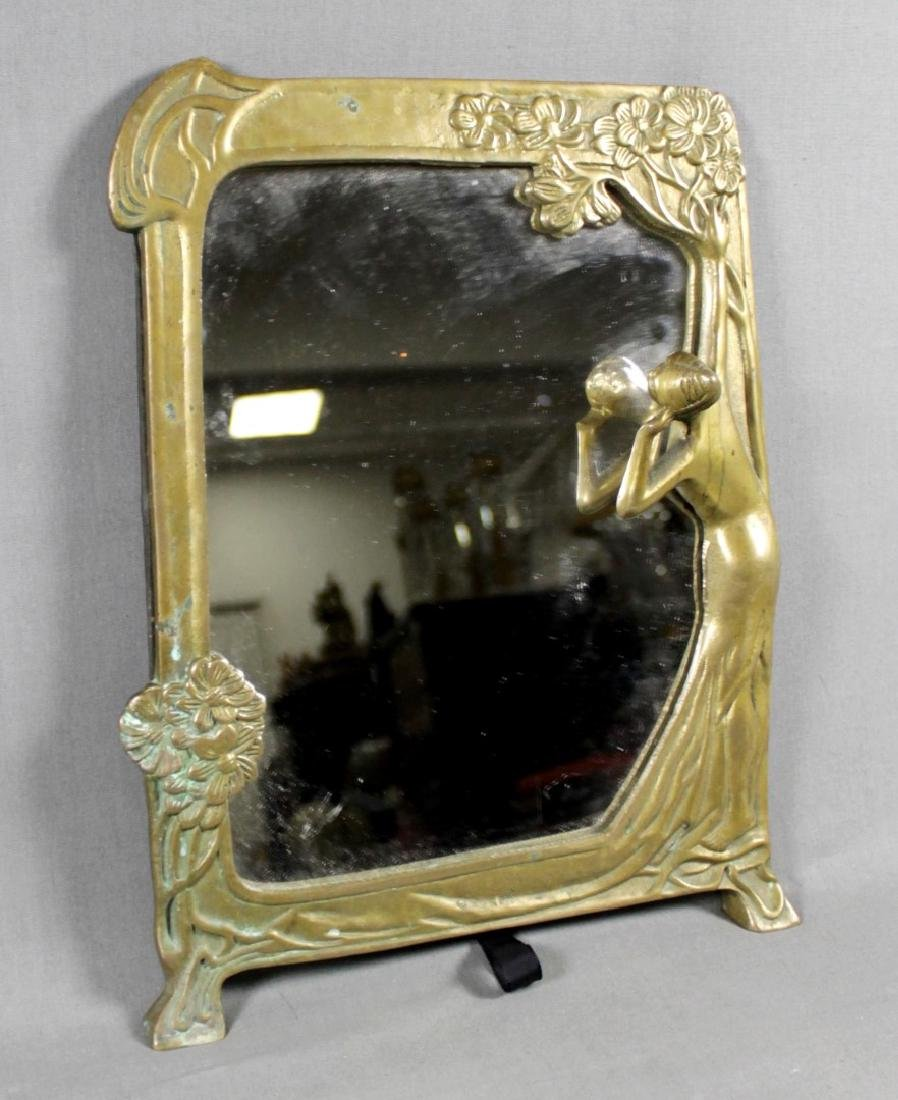 ART NOUVEAU TABLE MIRROR