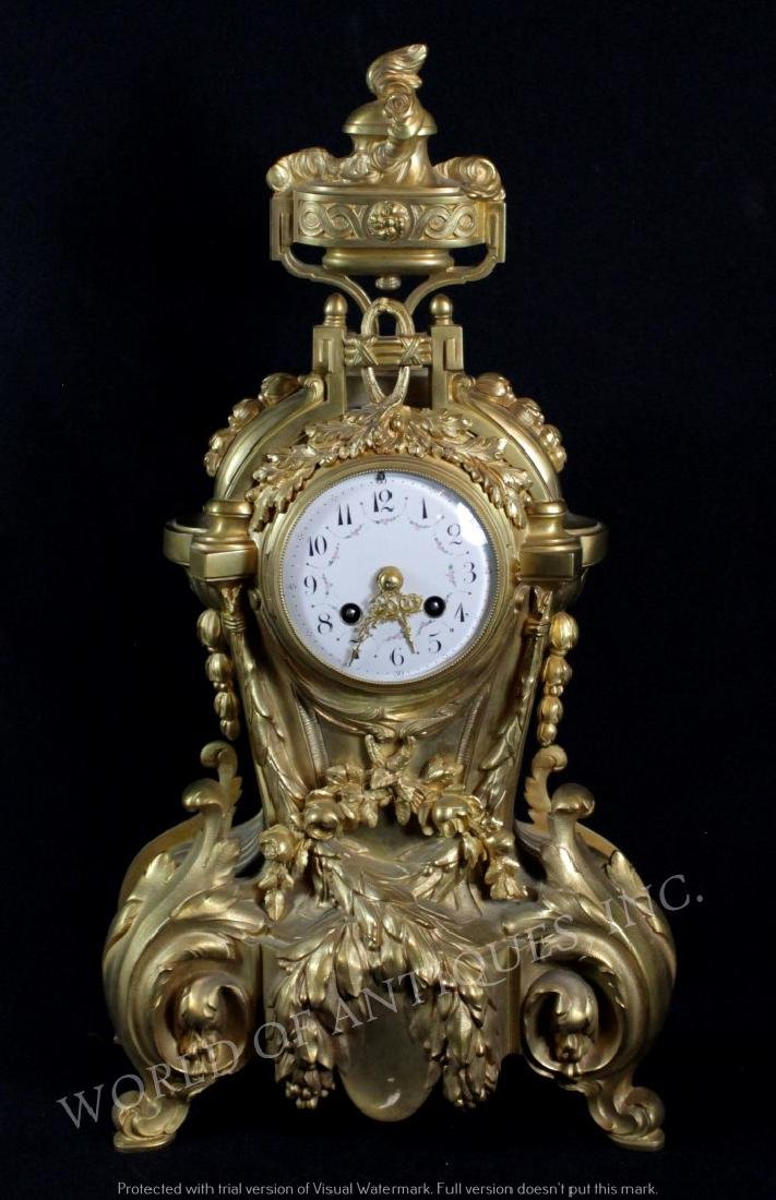 EARLY 19TH C. BRONZE MATLE CLOCK