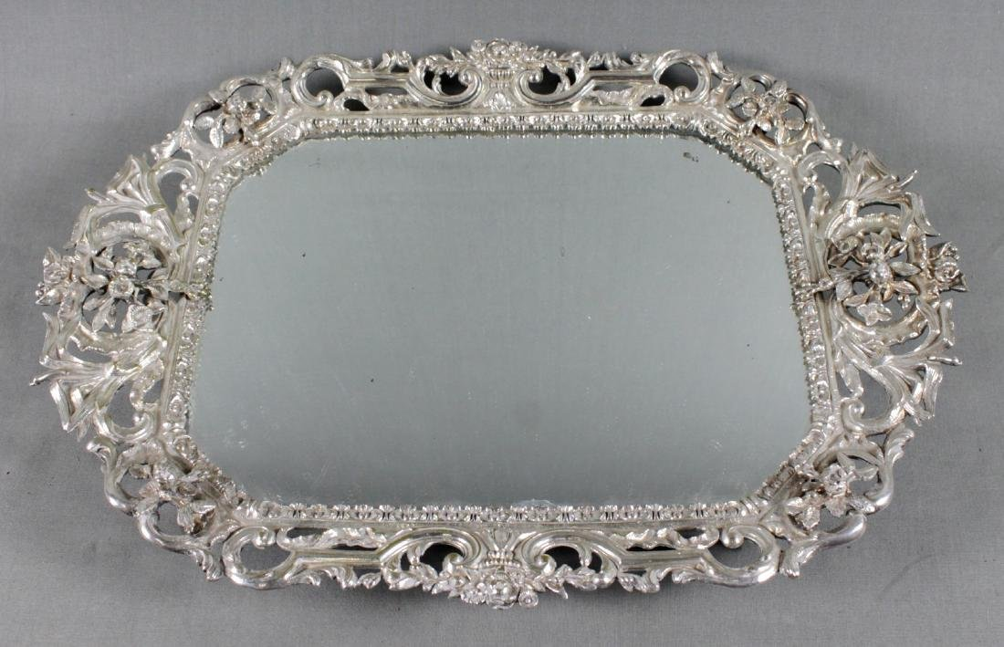 SILVERPLATED MIRROR PLATEAU