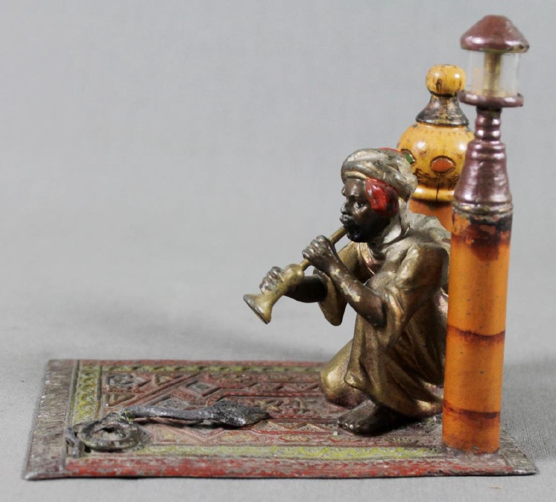 COLD PAINTED FIGURE OF SNAKE CHARMER