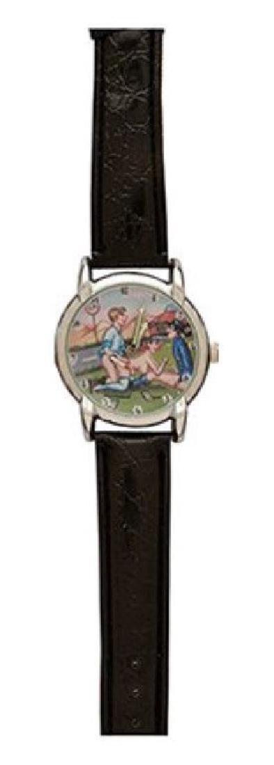 Shu Hang Erotic Wristwatch Signed