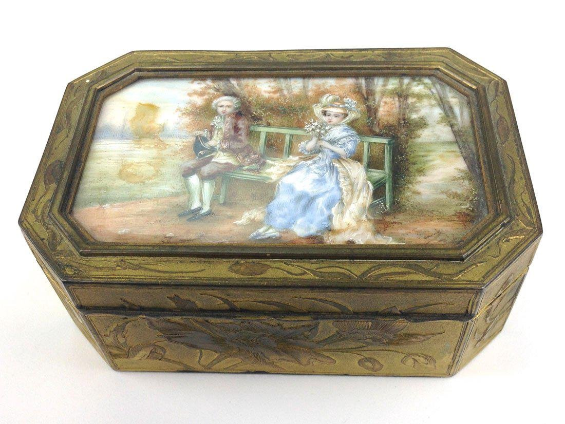 Late 19th C. French Fine Gilt Rectangular Box