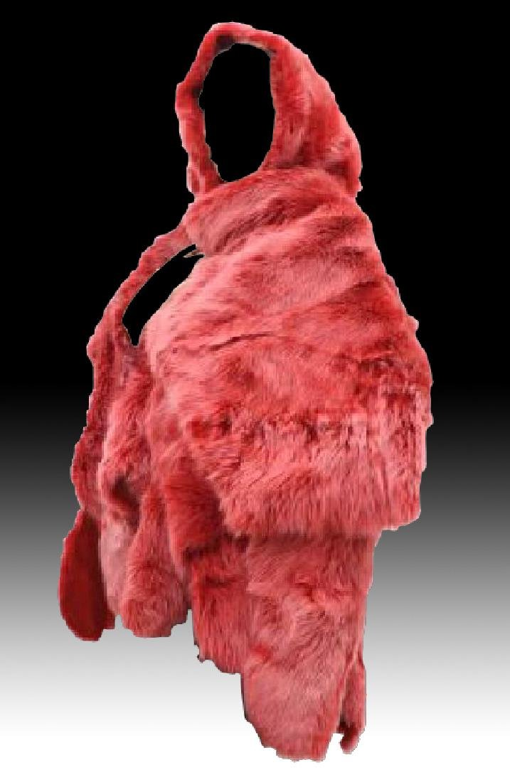 Gorgeous Red Reversible Fur Wrap Pelt