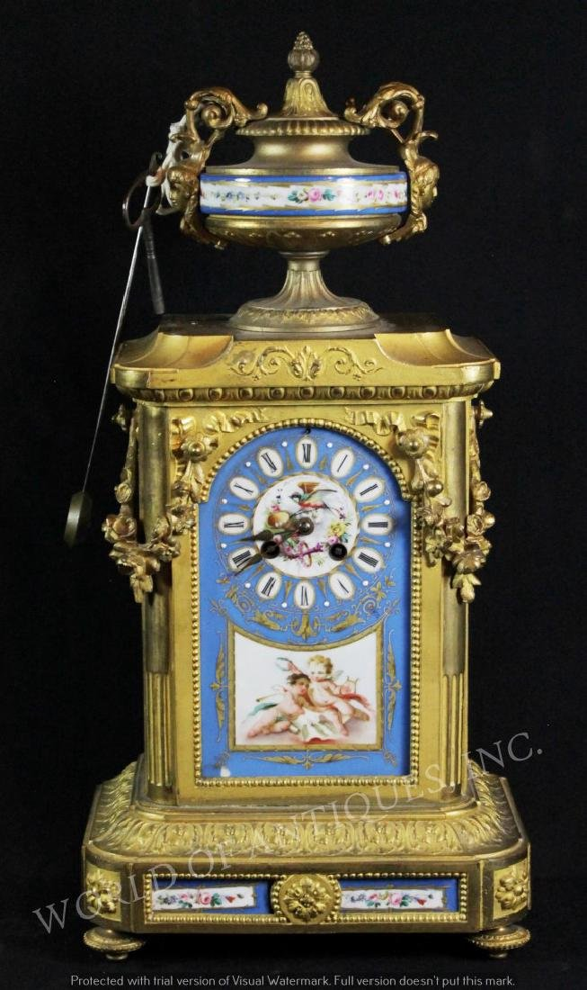 EARLY 19TH C. SEVRES MANTLE CLOCK