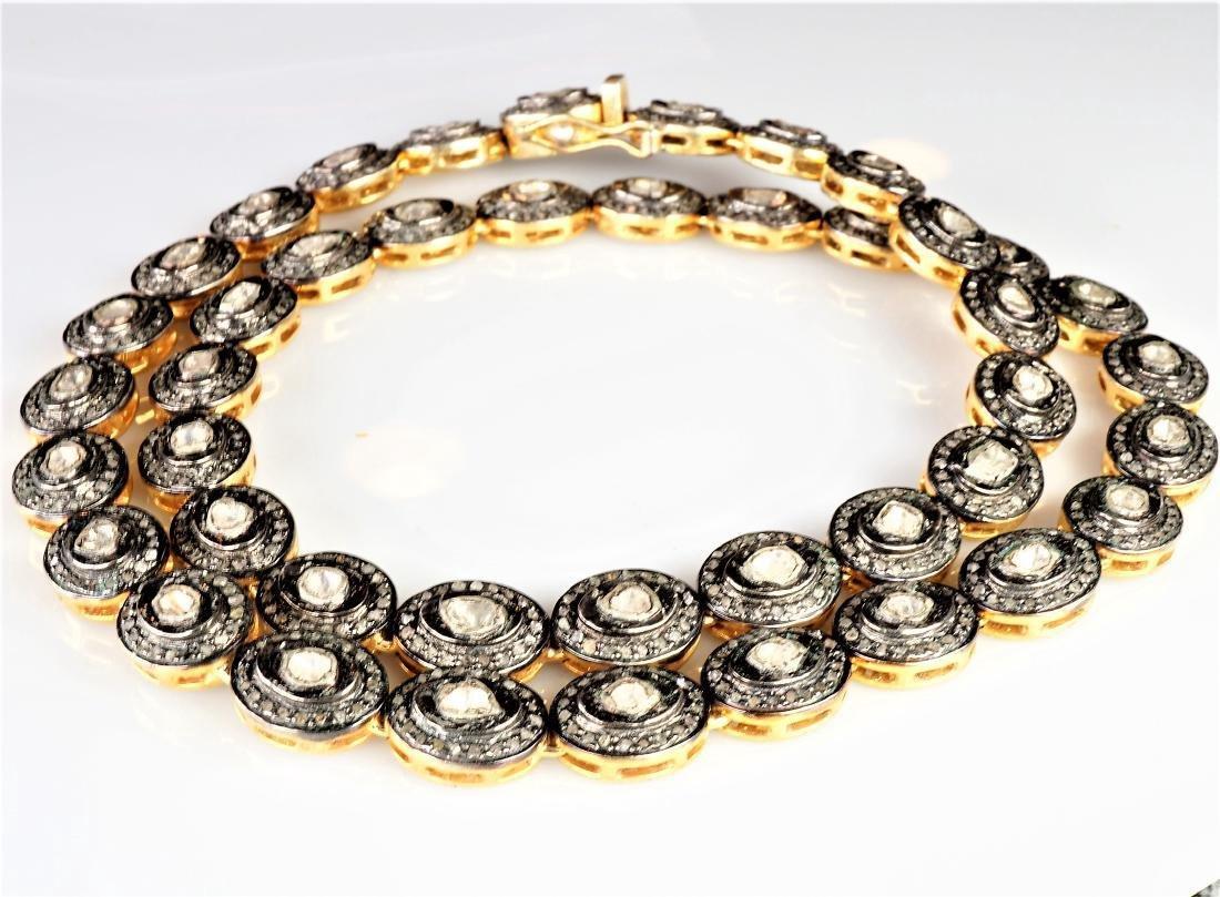 Rose Cut Diamond Necklace