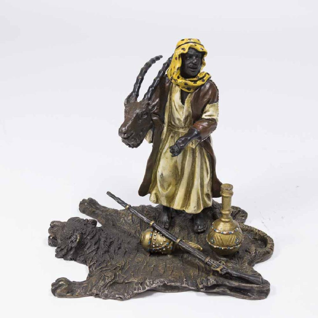 Contemporary Bergman Bronze, Orientalist Hunter