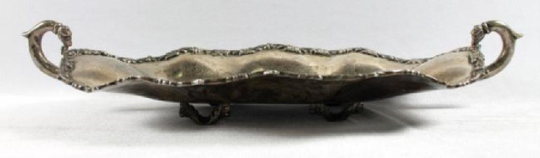 STERLING SILVER TRAY WITH HANDLES - 4