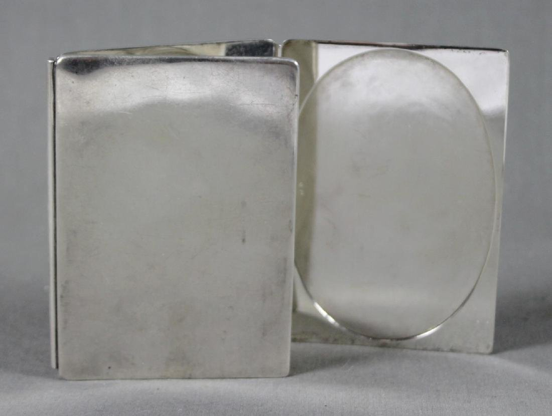 TIFFANY AND CO. STERLING SILVER TRIPTYCH POCKET PHOTO