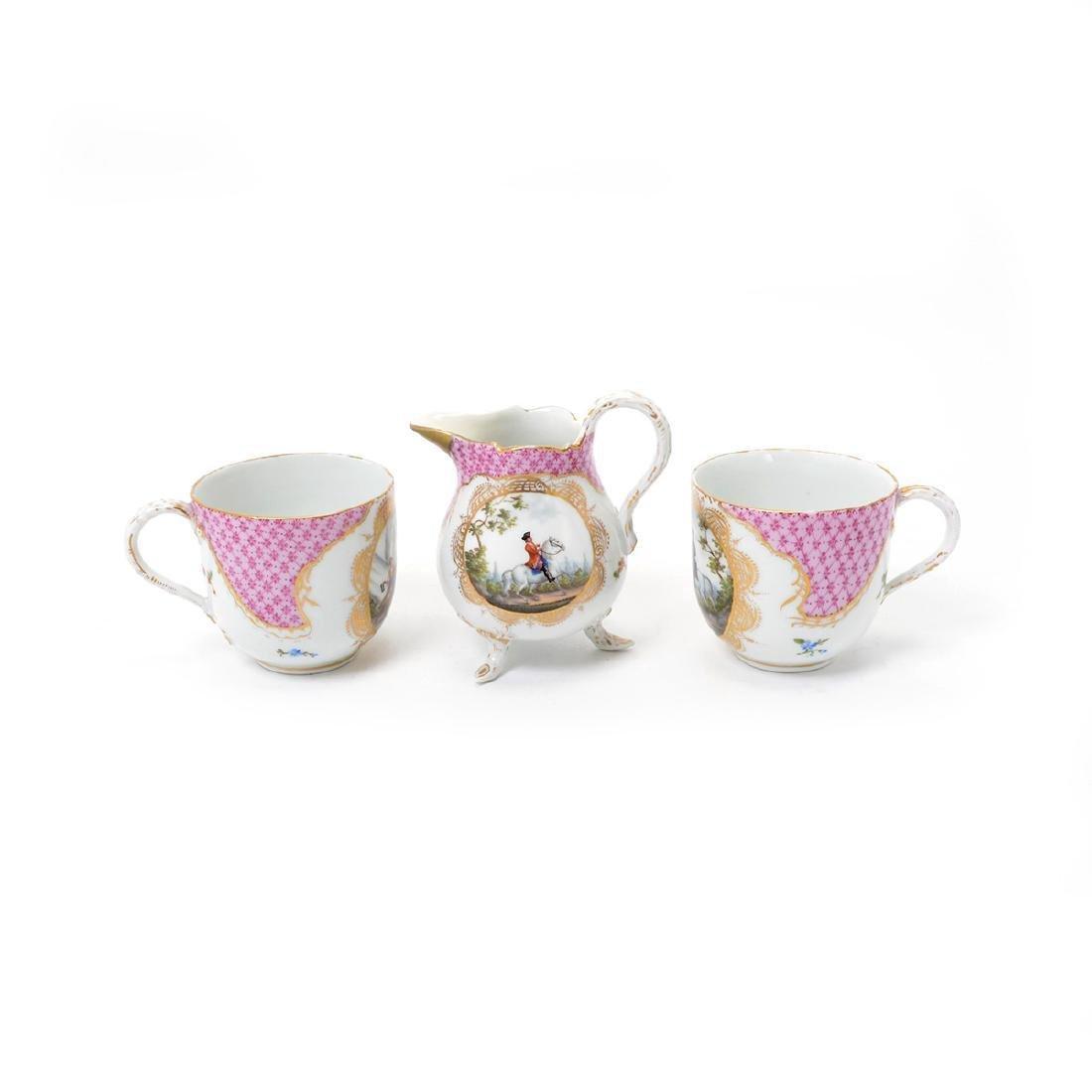 Meissen Six Piece Porcelain Tea Service including Tray - 10