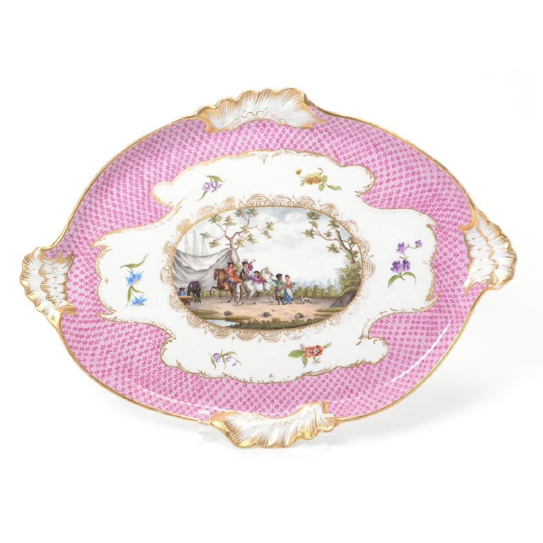 Meissen Six Piece Porcelain Tea Service including Tray - 2