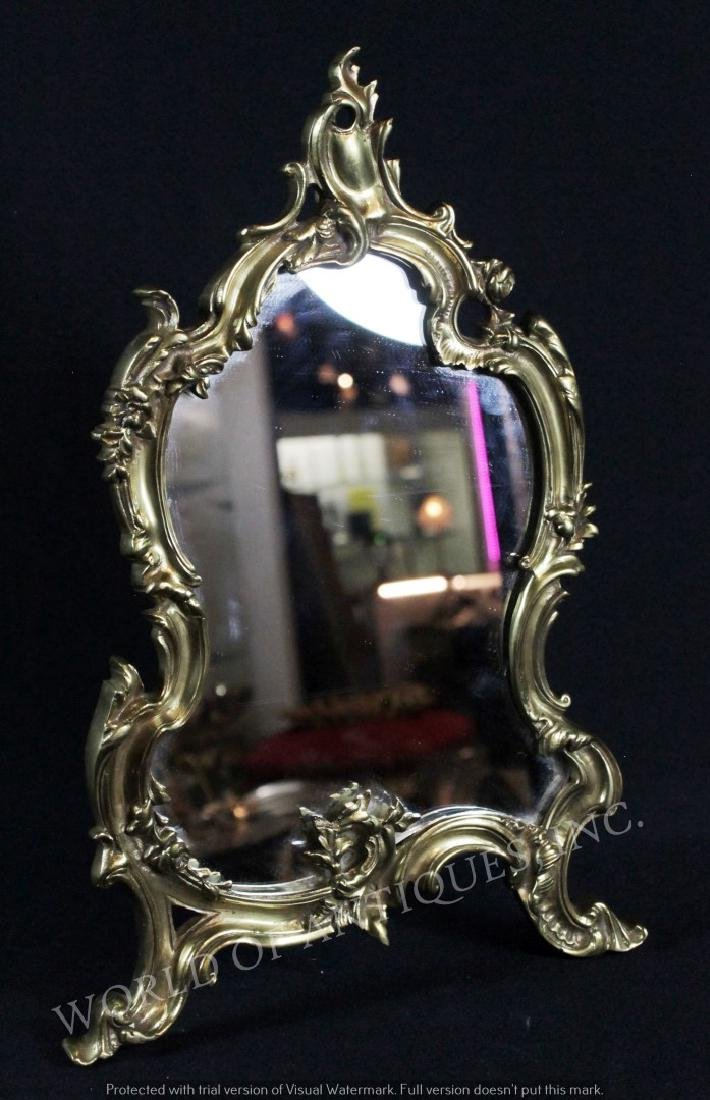 EARLY 19TH C. GILT BRONZE MIRROR