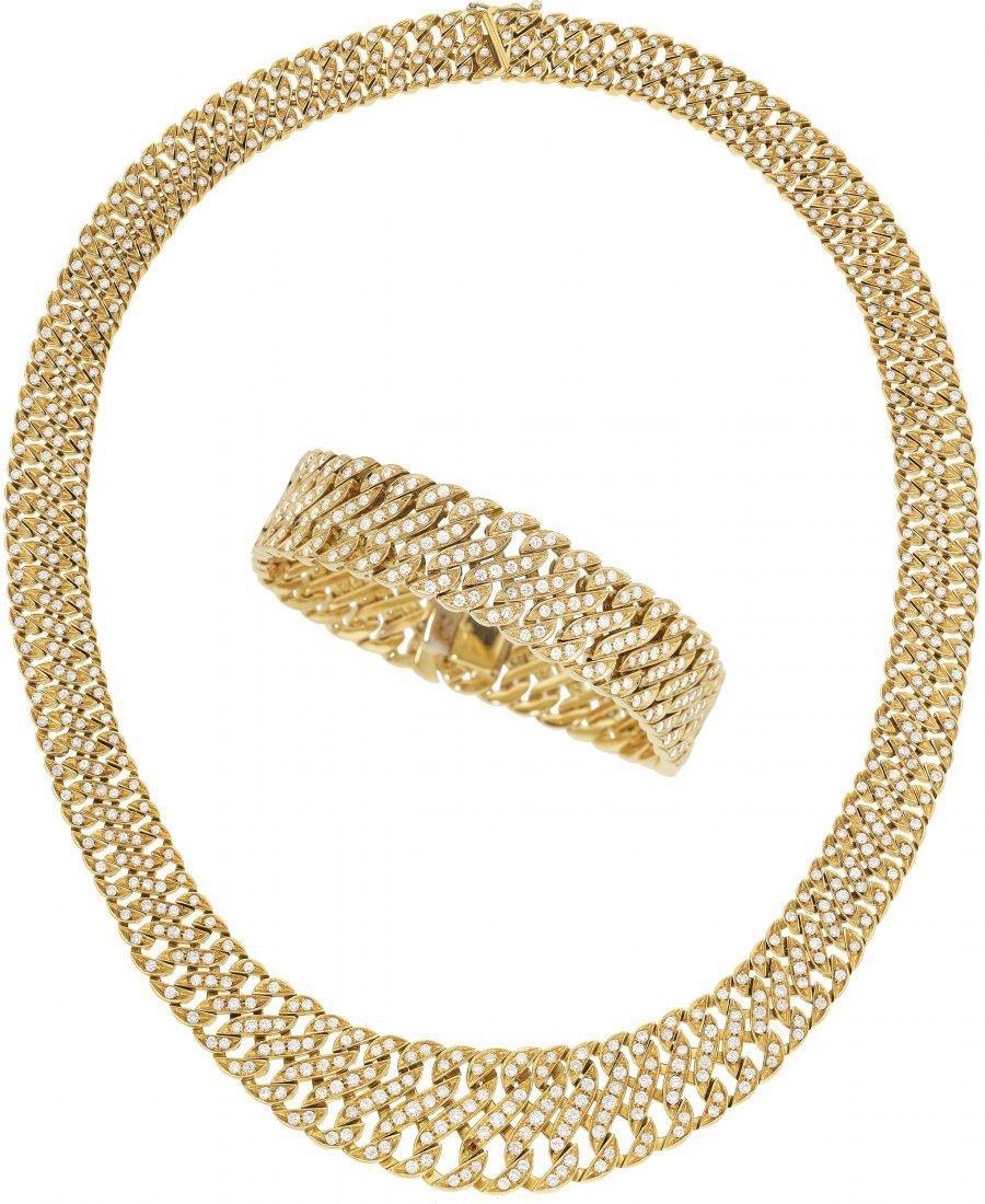 Diamond, Gold Jewelry Suite
