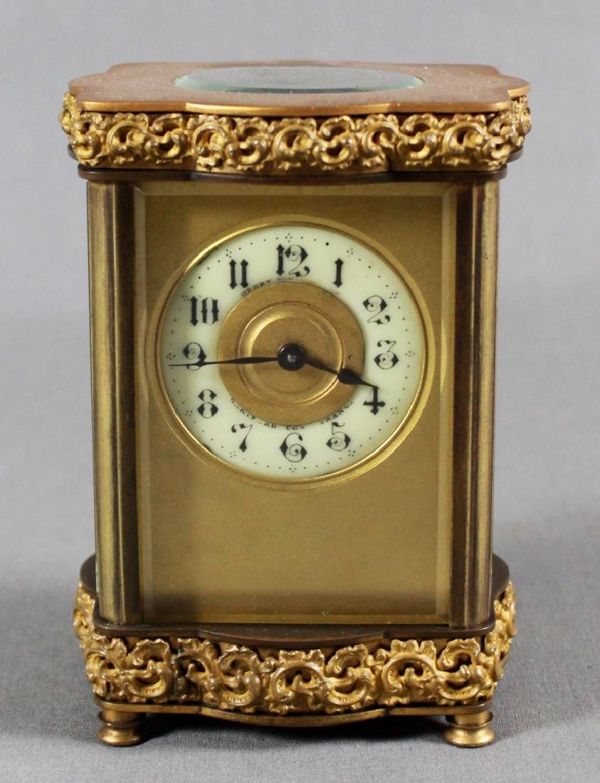 MINIATURE BRONZE REGULATOR CLOCK