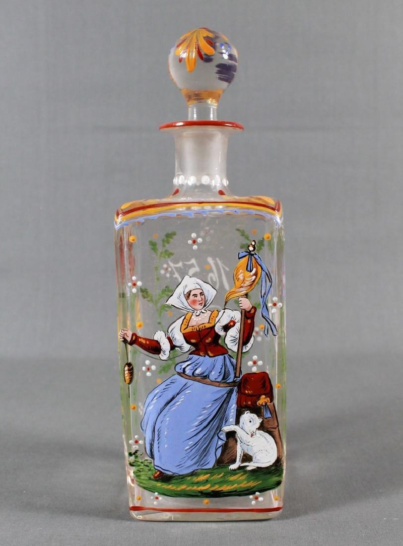 19TH CENTURY LOBMEYR STYLE BOTTLE