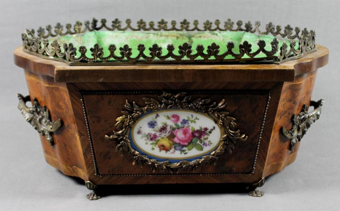 FRENCH SEVRES PORCELAIN INSET JARDENIERE