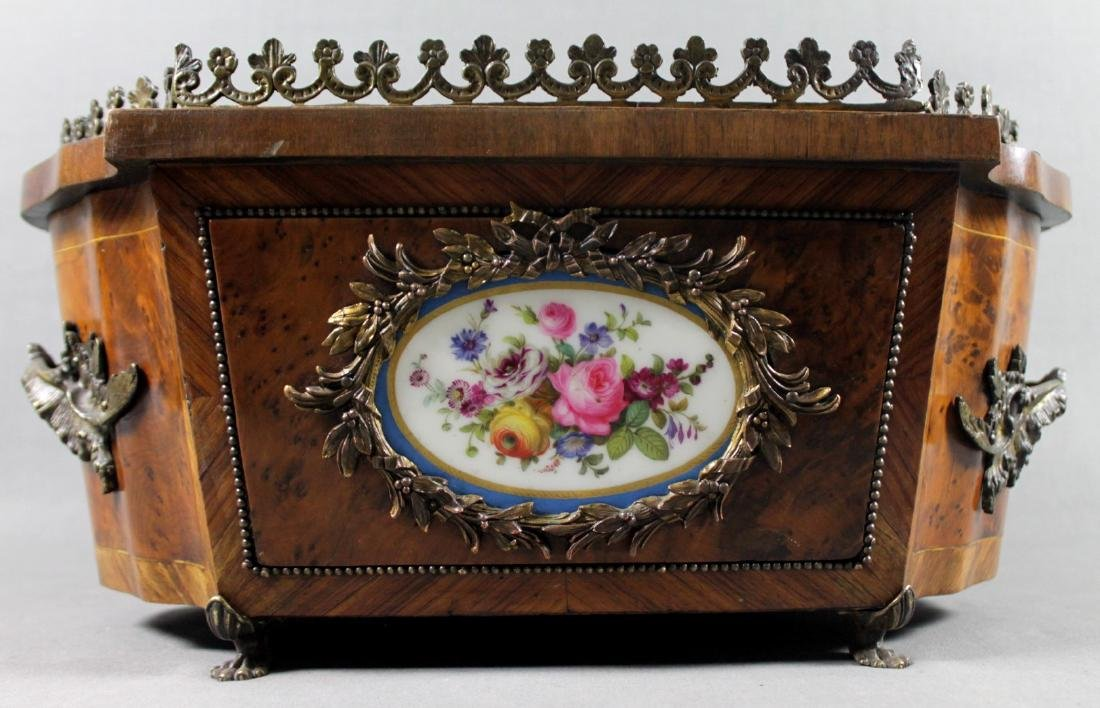 FRENCH SEVRES PORCELAIN INSET JARDENIERE - 2