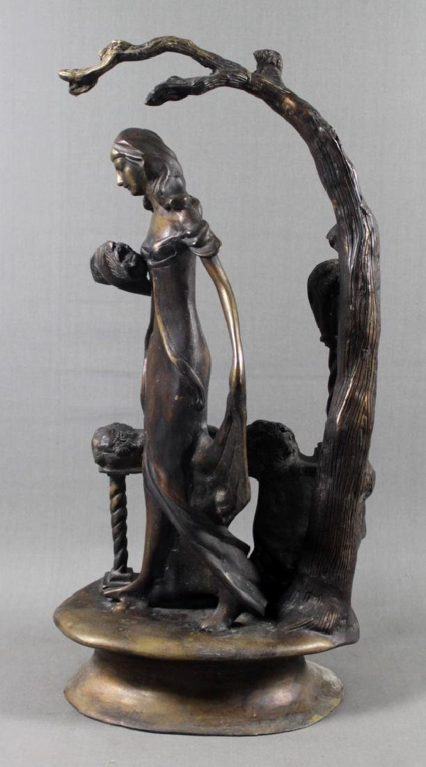 ICART STYLE BRONZE FIGURE OF WOMAN