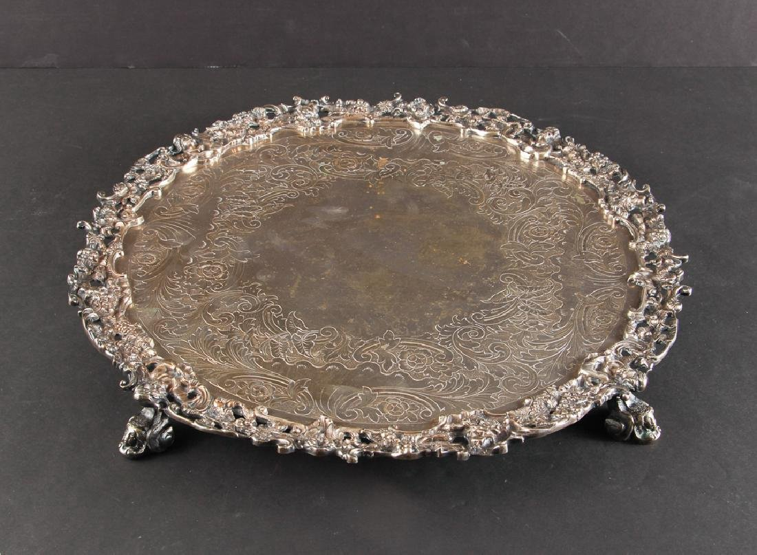 Romantic Silverplate Plateau Serving Tray