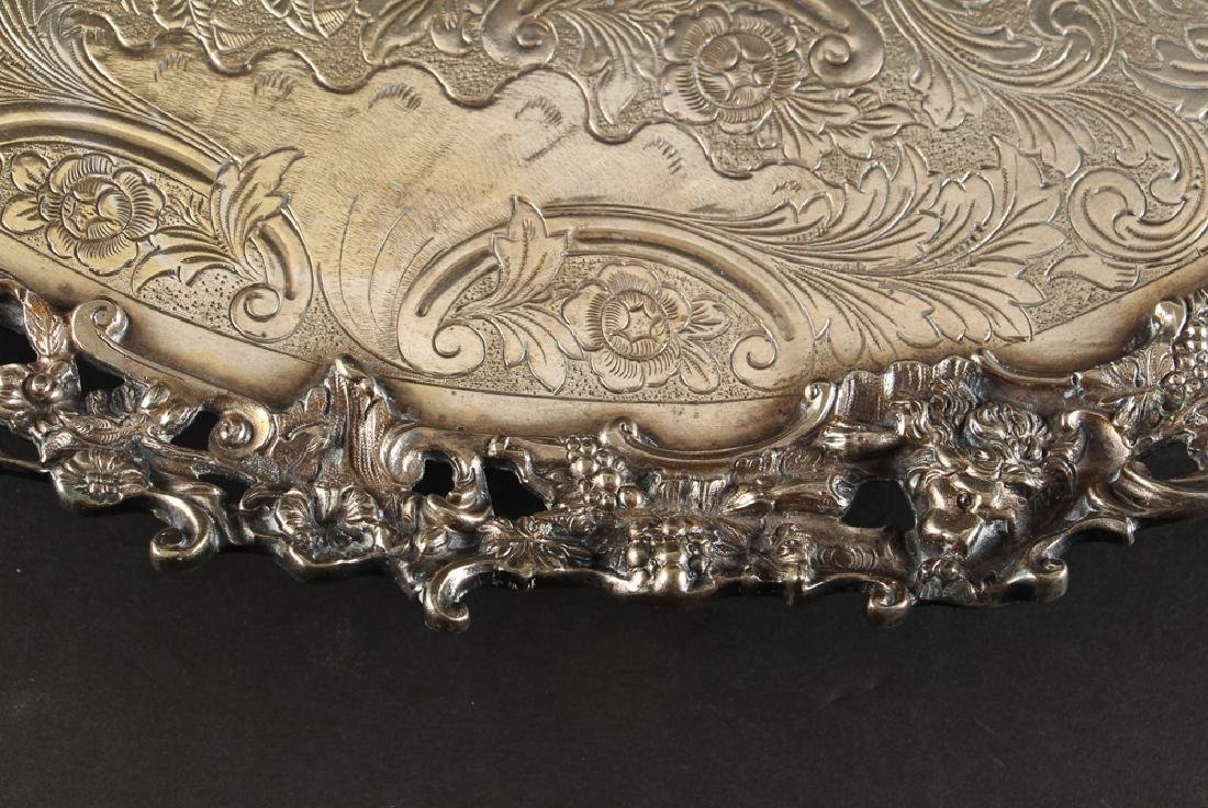 Romantic Silverplate Plateau Serving Tray - 3