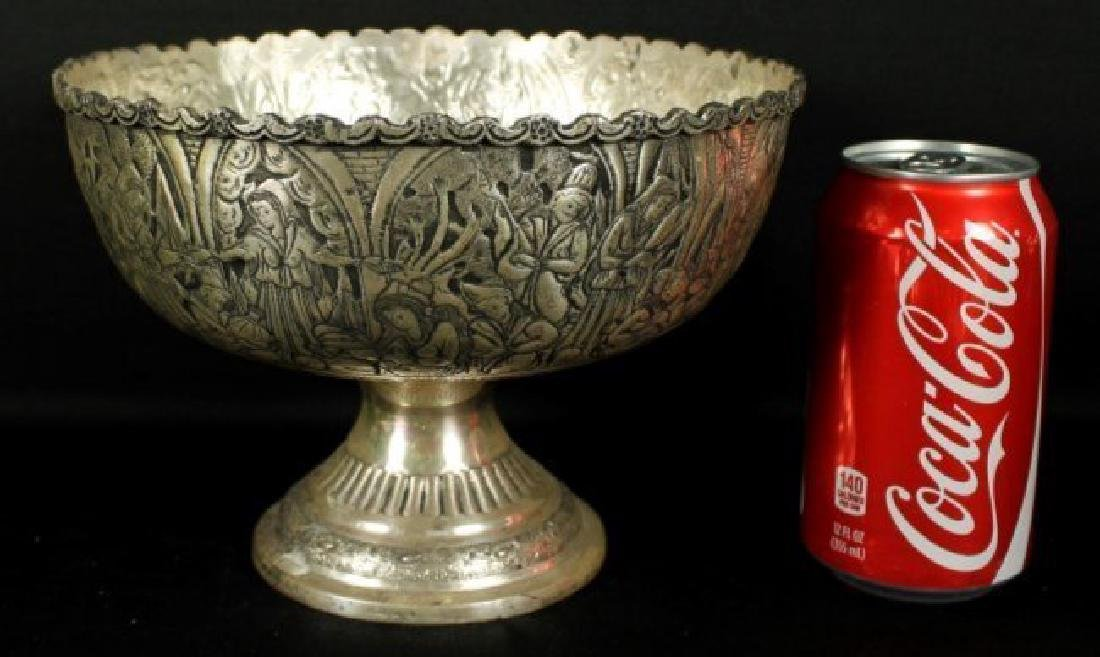 ANTIQUE PERSIAN SOLID SILVER CENTERPIECE MUSEUM QUALITY