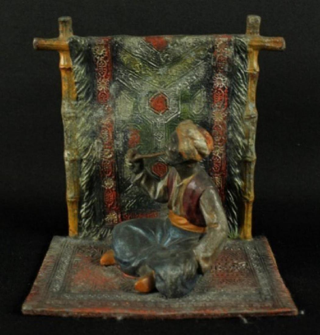 Pair Of Cold Painted Enamel Figures - 3