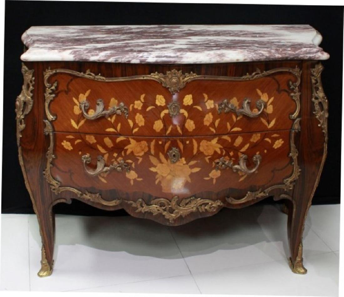 LOUIS XV STYLE GILT-BRONZE MOUNTED COMMODE