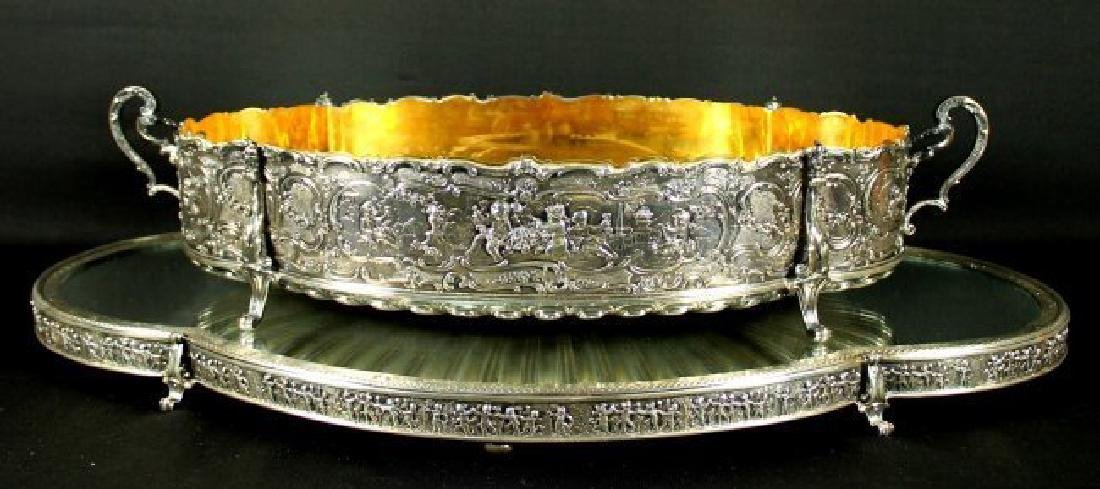 STERLING CENTERPIECE WITH STERLING MIRROR BASE - 2