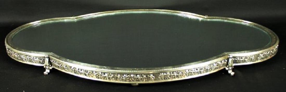 STERLING CENTERPIECE WITH STERLING MIRROR BASE - 3
