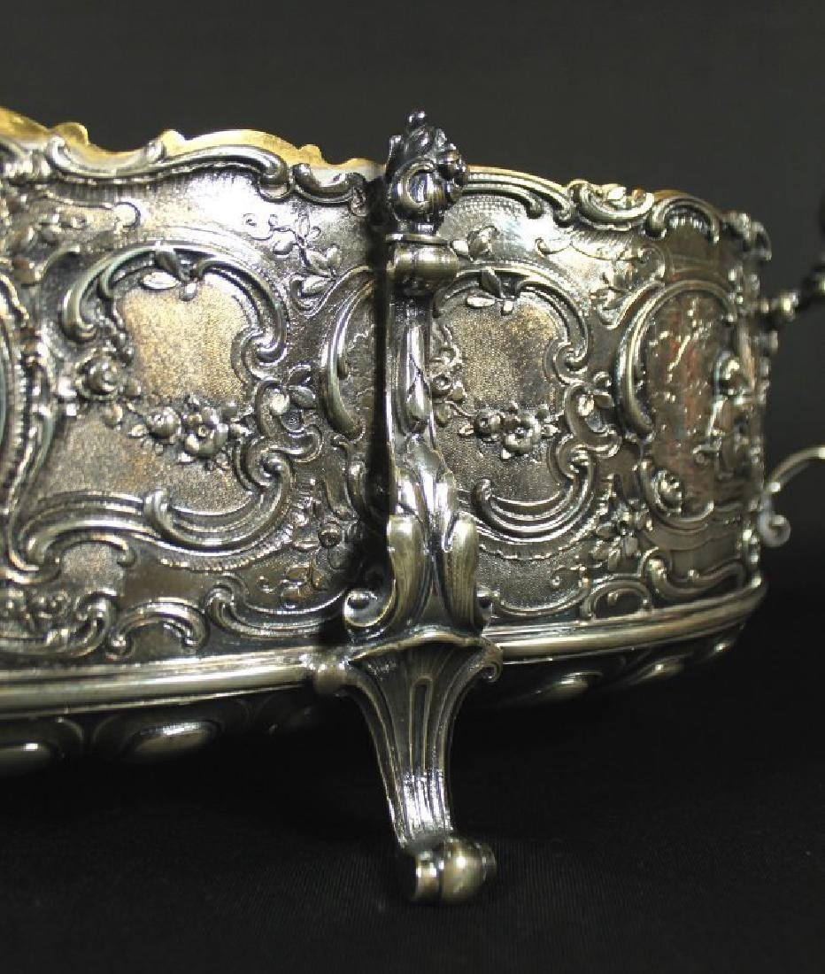 STERLING CENTERPIECE WITH STERLING MIRROR BASE - 7