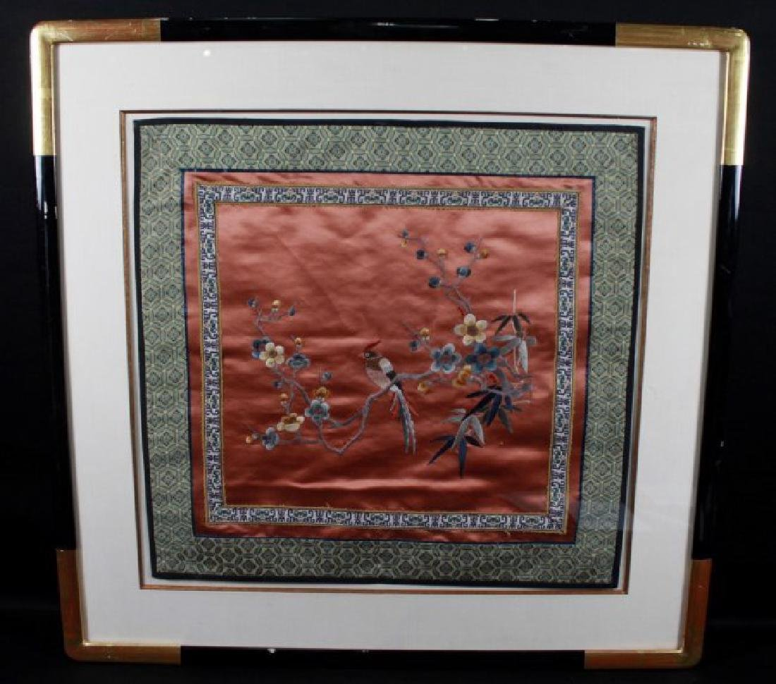 FRAMED CHINESE FABRIC