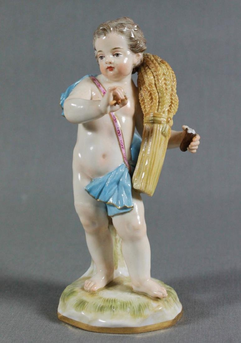 MEISSEN PORCELAIN EMBLEMATIC FIGURE LATE 19TH/EARLY