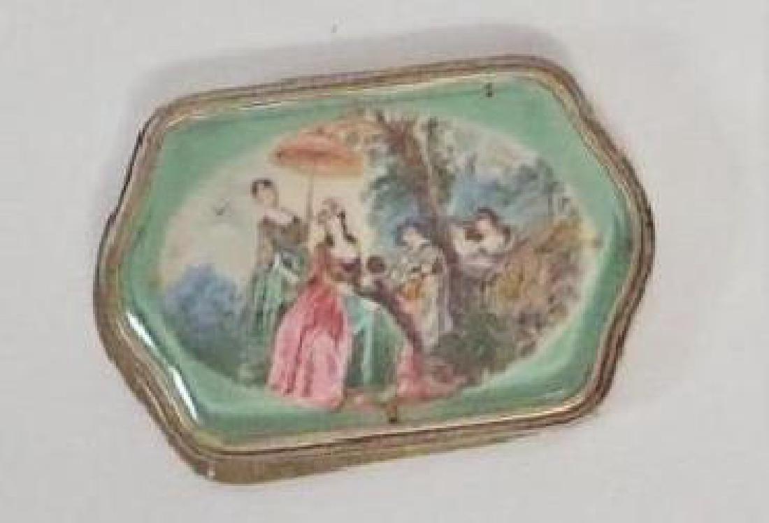 Antique Framed Porcelain Plaque