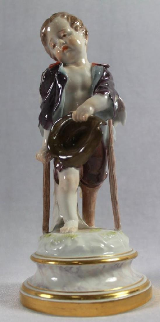 MEISSEN PORCELAIN FIGURE OF CUPID AS BEGGAR