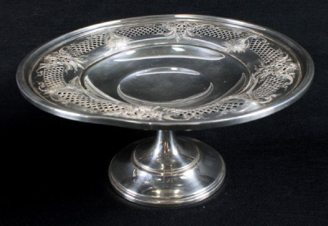 ANTIQUE STERLING SILVER TAZZA