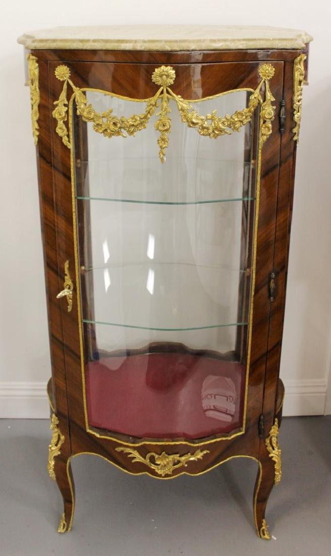 LOUIS XV STYLE M.T. OVAL VITRINE CABINET