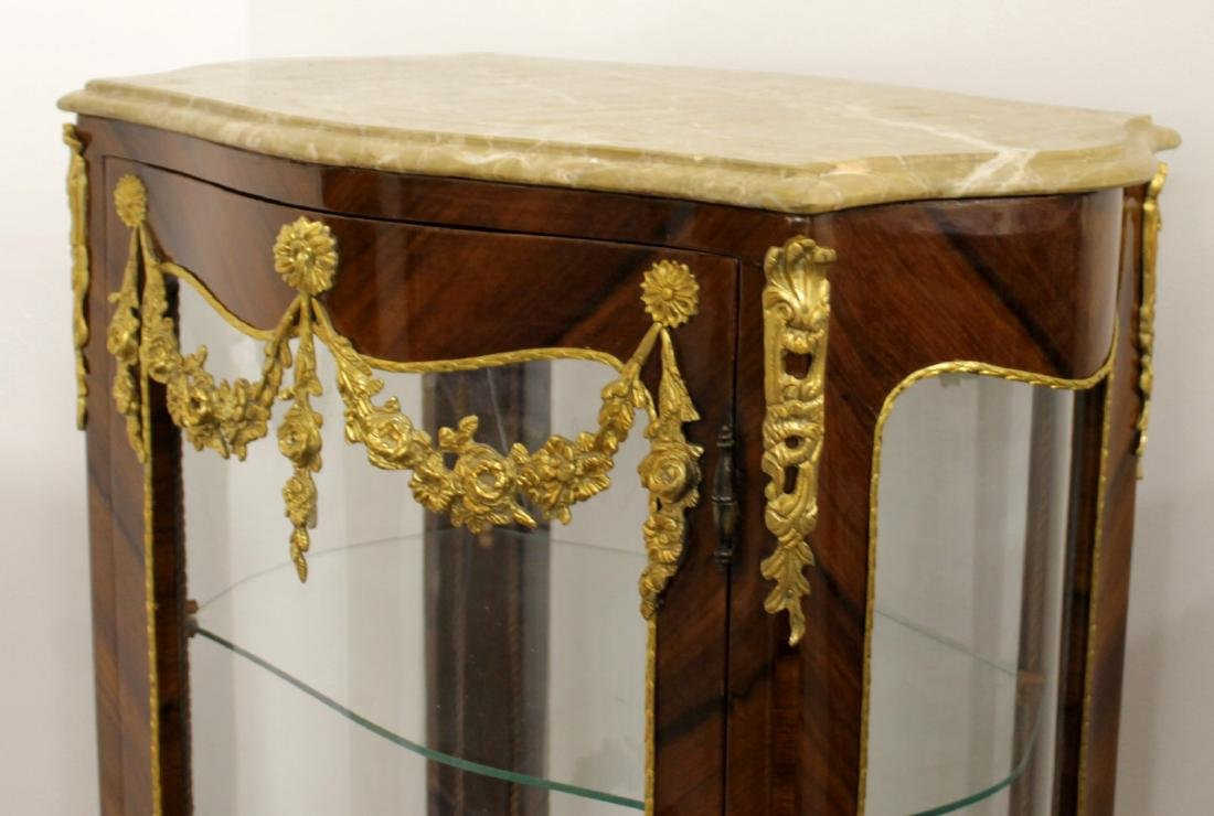 LOUIS XV STYLE M.T. OVAL VITRINE CABINET - 2